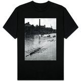 Cambridge Leading Oxford by Two Lengths in the Annual University Boat Race T-shirts