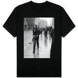 Rolling Stones' Mick Jagger Leaving the Court of Appeal After Listening to Evidence on Brian Jones T-Shirt