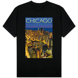 Chicago, Illinois, View of City from Sears Tower Skjorter