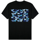 Blue Puppies Pattern Shirts