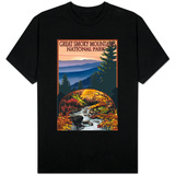 Great Smoky Mountains - Waterfall, c.2009 T-Shirt