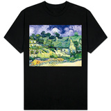 Thatched Cottages at Cordeville, Auvers-Sur-Oise, c.1890 T-Shirt