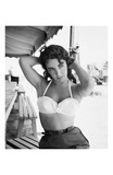 Elizabeth Taylor with Hands Behind Head Poster von Frank Worth