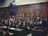 WWII Nuremburg Trials 1946 Photographic Print by  Anonymous