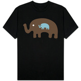 Seagreen Expecting Elephant T-shirts