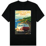 Oregon Coast, Cruising the Coast, VW Bug Van - T-shirt