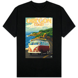 Oregon Coast, Cruising the Coast, VW Bug Van T-Shirt