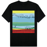 Birds in Black on Wire T-Shirt