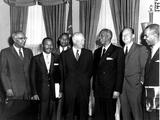 Eisenhower Civil Rights Leaders Fotografisk trykk av  Associated Press