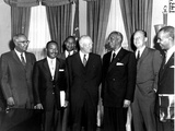 Eisenhower Civil Rights Leaders Photographic Print by  Associated Press