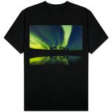 Horses under the Aurora Borealis T-skjorter