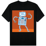 Dancing Robot on Wood Floor T-shirts