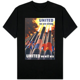 United We are Strong, United We Can Win T-shirts