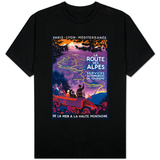 La Route Des Alpes Vintage Poster - Europe T-Shirt