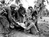 Vietnam War GI Wounded Photographic Print by Dana Stone