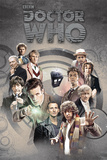 Dr Who-Doctors Through Time Psters
