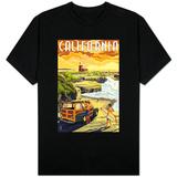 California Coast - Woody and Lighthouse Skjorter