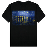 Starry Night Over the Rhone Skjorte