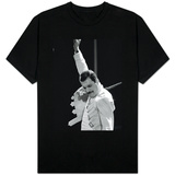 Queen Rock Group Freddie Mercury in Concert at St. James Park in Newcastle, 1986 T-Shirt