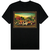 Nostalgic Farm Landscape T-Shirt