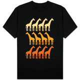 Orange Giraffe Family T-shirts