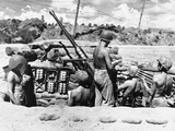 WWII Solomon Islands US Troops 1944 Photographic Print by  Anonymous