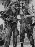 Vietnam War US Wounded Photographic Print by Henri Huet