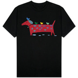 Red Dog with Birds T-shirts