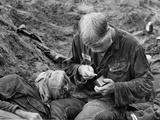 Vietnam War U.S. Medic Cole Pell Photographic Print by Henri Huet