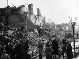 WWII Leicester Bomb Damage Photographic Print by  Anonymous