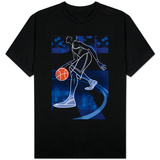 Basketball Player on Blue Camisetas