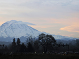 Rainier Sunrise Stampa fotografica di Ted S. Warren