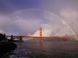 Golden Gate Rainbow Photographic Print by Abraham Lustgarten