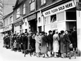 WWII Food Lines Photographic Print