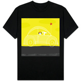 Dog, Cat, Bird in Car T-shirts