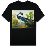 "Louisiana Heron from ""Birds of America"" T-Shirt"