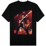 Phil Lynott Singer of Thin Lizzy Singing on Stage Playing Guitar T-shirts