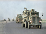 Gulf War American Soldiers Withdrawl Photographic Print by Peter Dejong