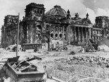 German Reichstag Ruins Photographic Print