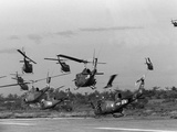 Vietnam Helicopter Assault Photographic Print by  Associated Press