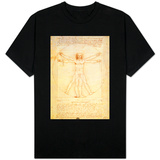 Man van Vitruvius, ca. 1492 T-Shirts
