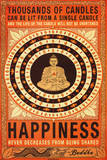 Thousands Of Candles Buddha Motivational Stampe