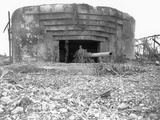WWII U.S. Soldier Atlantic Wall Photographic Print by  Anonymous