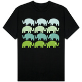 Green Elephant Family T-shirts