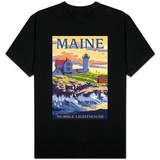 Nubble Lighthouse - York, Maine T-shirts