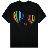 Rainbow Hot Air Balloons T-shirts