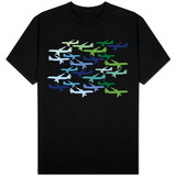 Airplane Pattern T-shirts