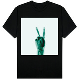 X-Ray of Hand Doing Peace Sign T-shirts