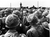 Nixon Visits Troops in Vietnam Photographic Print by  Associated Press