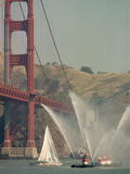 Golden Gate Great American 1989 Photographic Print by Pete Leabo